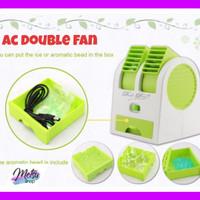 New AC Mini Aroma Therapy Portable - Double Fan Kipas Angin Pendingin