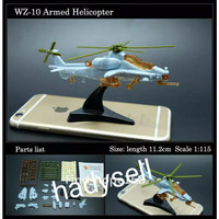 4d mainan pesawat puzzle WZ-10 Armed Helicopter