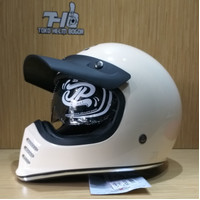 helm JPX Retro Signature solid White Cream gloss