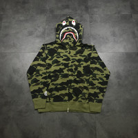 Bape hoodie first camo green super grade highest grade of all