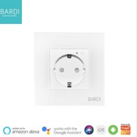 BARDI Smart Wall Socket Wifi - Stop Kontak Dinding Type EU - Putih