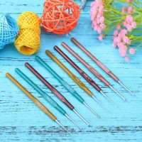 Jarum Rajut Set 8 pcs Hakpen Crochet Hook Knitting Needles Set
