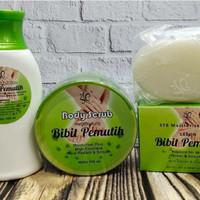 Paket pemutih badan bibit pemutih ( body scrub, body lotion, sabun)