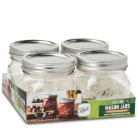 BEST PRICE Ball Mason Jar Wide Mouth 473 ml Elite Collection 4 pcs