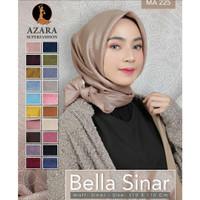 Hijab segiempat - Jilbab polos - Bella Sinar - CornskinGlowing - Azara