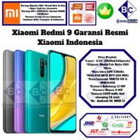 Xiaomi Redmi 9 4/64 3/32 4/64GB 3/32GB Grey-Purple-Green Resmi
