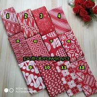 kain batik merah putih/kain Batik meteran/kain Batik katun/kain batik