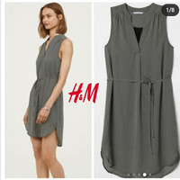H*m stripe arrow sleeveless dress