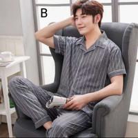 Piyama Pria 5677 Baju Tidur Cowok Katun Set Men Pajamas Murah