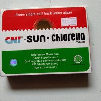 suplemen makanan sun chlorella 150tablet
