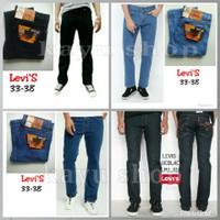 Celana Jeans Pria Standar Big Size Hitam Biru Muda Garmen
