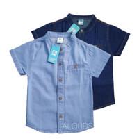 Baju Kemko Kemeja Koko Anak Laki Lengan Pendek Soft Jeans Biru 2-10 Th