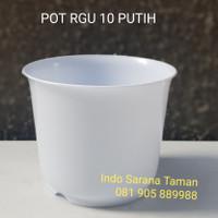 Pot RGU 10 PUTIH Pot Kaktus Pot Bunga Pot Tanaman Pot Plastik Putih