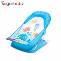 Sugar Baby Deluxe Baby Bather (Tempat Mandi Bayi) - Wolly Whale - Biru