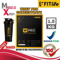FITlife Whey Pro Concentrate 1.5 Kg 3.3 Lbs BPOM FIT Life WPro 1,5Kg - CHOCO MALT