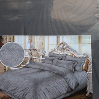 sprei polos embos jaquard queen size 160x200 T30 Grey