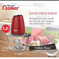 cosmos food processor fp 313/1,2liter/copper cosmos