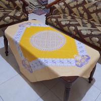 Taplak meja tamu kotak persegi motif batik printing