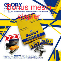 isi staples no 10 glory beli 20 box BONUS STAPLER