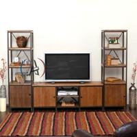 cabinet tv industrial jati minimalis/rak tv jati klasik/rak tv besi