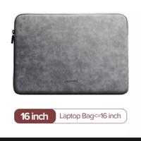 Ugreen sleeve case tas bag laptop new macbook storage leather 16 inch