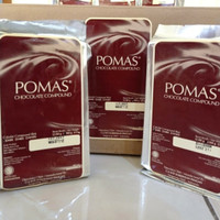 cokelat batang Pomas Dark Chocolate compound 500 gram bukan tulip