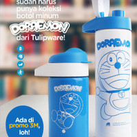 SALE Mini Multi Bottle Doraemon Twin Tulipware Botol Minum Anti Tumpah