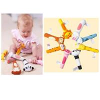 mainan rattle teether boneka genggam bayi bentuk hewan animal