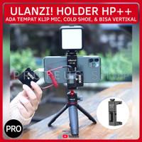 ✅ ULANZI ST-08 HOLDER HP HANDPHONE CLIP KLIP MIC COLD HOT SHOE