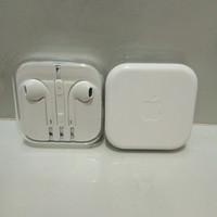 Headseat Handsfree Earphone Earpods iphone 5/5s/6/6s 100%Original - Putih