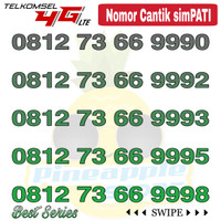 Nomor Cantik Simpati telkomsel 4G LTE seri 66 999x