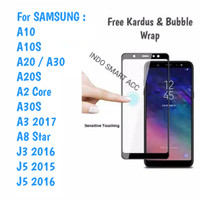 Tempered Glass A10 A20S A30 Samsung Anti Gores Kaca Full Lem 5D/9D