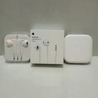Headset Handsfree Earphone Earpods iphone 5/5s/6/6s 100% original - Putih