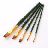 Kuas Lukis Cat Air Akrilik Minyak Set 5 pcs Oil Paint Brush