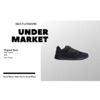 sepatu sneakers piero jogger jr all black