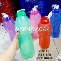 botol minum flip top 2 liter fliptop jumbo transparan pelangi 2liter