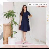 Abigail dress premium bahan scuba premium ld 84-94