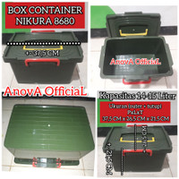 BOX CONTAINER NIKURA 8680. SETARA SHINPO CB 15 . KAPASITAS 14-15 LITER