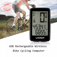 odometer sepeda wireless speedometer USB Rechargeable Baterai Charge