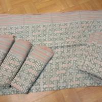 batik Paris dusty pink hijau