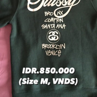 Stussy World Tour Hoodie forest green