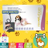 Obat Kutu REVOLUTION Cat Kucing Kitten / Dog Anjing Puppy REPACK ASLI
