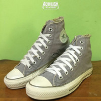 SEPATU CONVERSE CHUCK TAYLOR ALL STAR FADED GREY BEKAS / SECOND