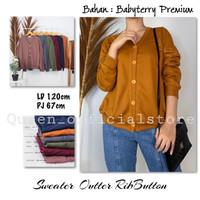Cardigan / Sweater / atasan wanita Blezer Outter Button (kancing buka) - Mustard