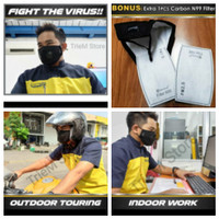 Masker N99 Respirator Sherlock - Dual Valve With Carbon Filter