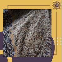 Kain batik katun halus meteran motif mega mendung pinggiran