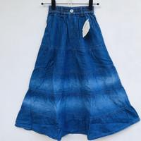 Rok Panjang Jeans Anak Perempuan Impor Model Tingkat Gradasi 7-12 Thn