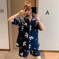 Piyama Wanita Olive Baju Tidur Katun Satin Bajutidur Sleepwear Cewek