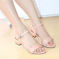 Sandal Heels Fashion Wanita Cleopatra Sendal Kerja BK02