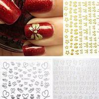 HN - 3D DIY Nail Art Sticker Motif Simpul Love